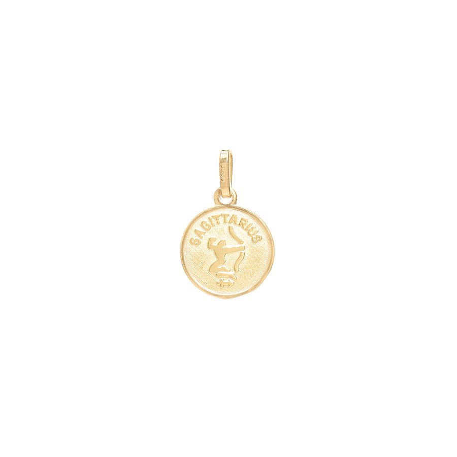 Small Circle Zodiac Pendant