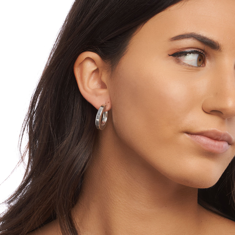 Sterling Silver Square Hoops