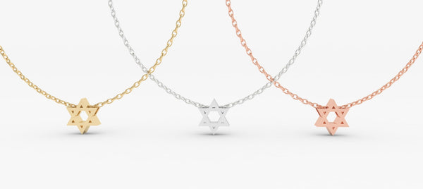 Magen David Pendant - PRICES LISTED ARE FOR SILVER - PLEASE REQUEST A QUOTE FOR GOLD CHOICE