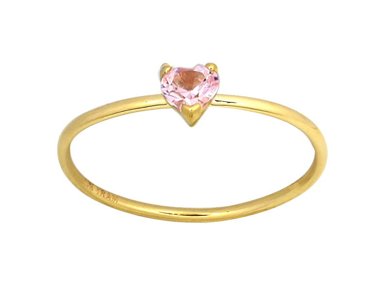 Pink Tourmaline Heart Ring