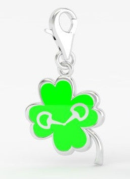Snaffle Bit Bridle Charm - Clover
