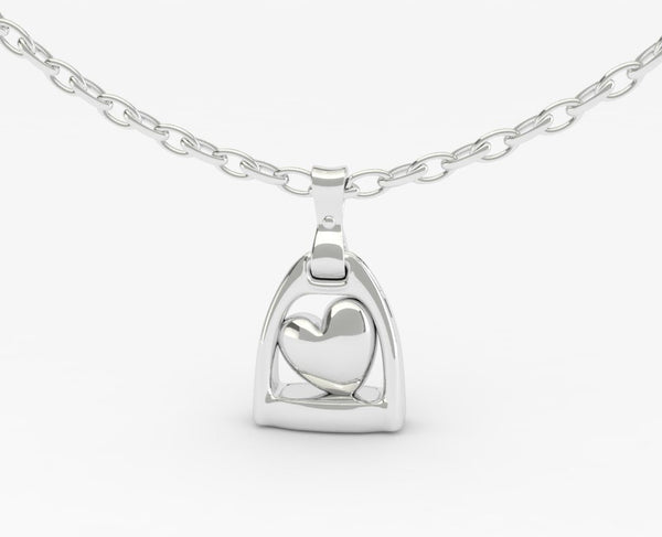 Stirrup with Heart Pendant