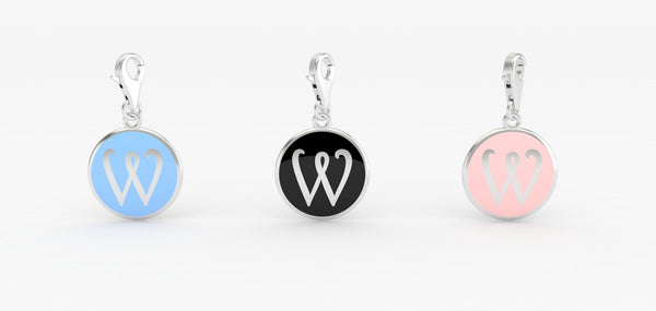 Luv Letter 'W' Bridle Charm