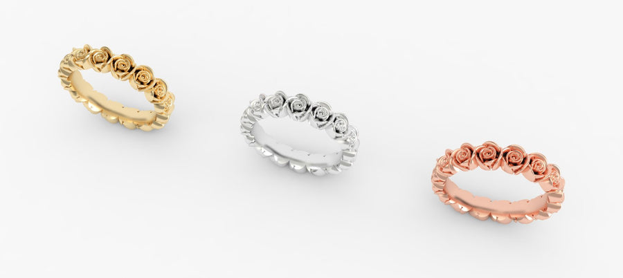 Wild Rose Eternity Ring