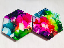 Load image into Gallery viewer, Art Coasters- Rainbow Series (4 pk)
