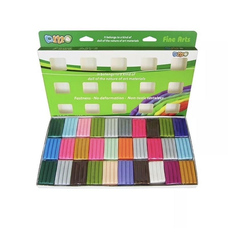 Oven Bake Clay Set - 30 Colours