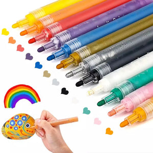 Acrylic Paint Markers - 12 colour pk