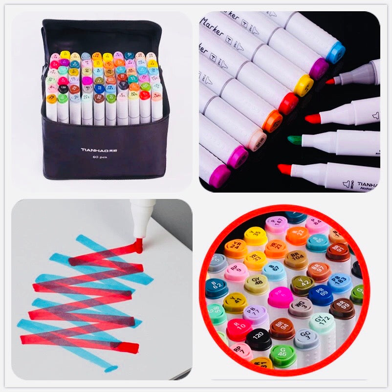 Alcohol Ink Markers 60 pcs