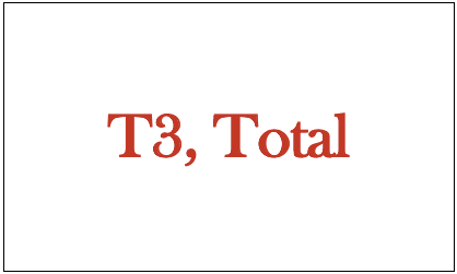 T3, Total