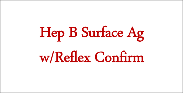 Hep B  Surface Ag w/Reflex Confirm