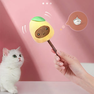 Bite Resistant with Bell Fruit Shape Cat Toy