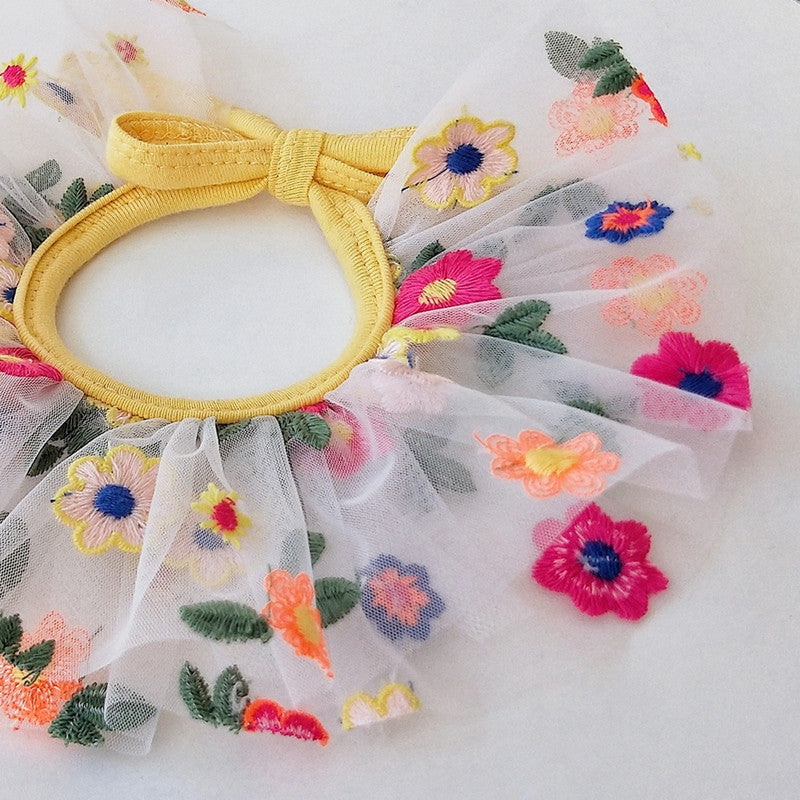 Hand Made Flower Dog Cat Bib