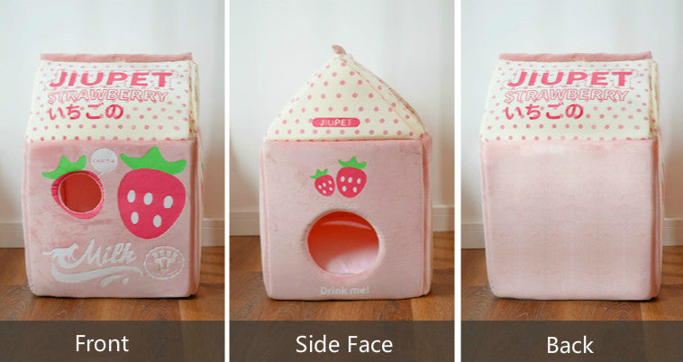 Kawaii Style Winter Closed Cat House