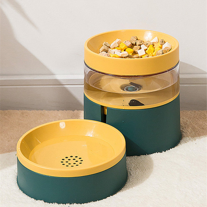 2-in-1 Automatic Drinking Dual-Bowl Cat Bowl