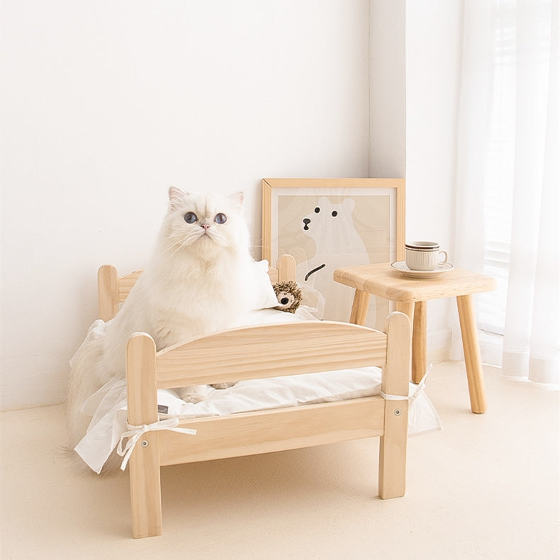 Adorable Wooden Pet Bed