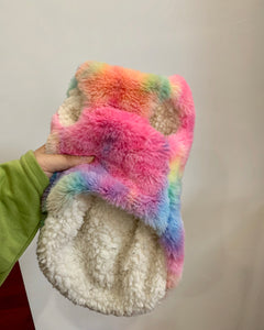 Rainbow Series Tie-Dye Pet Winter Coat
