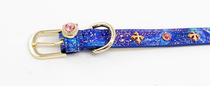 Hand Made Genuine Leather Pet Collar Starry Sky - happyandpolly