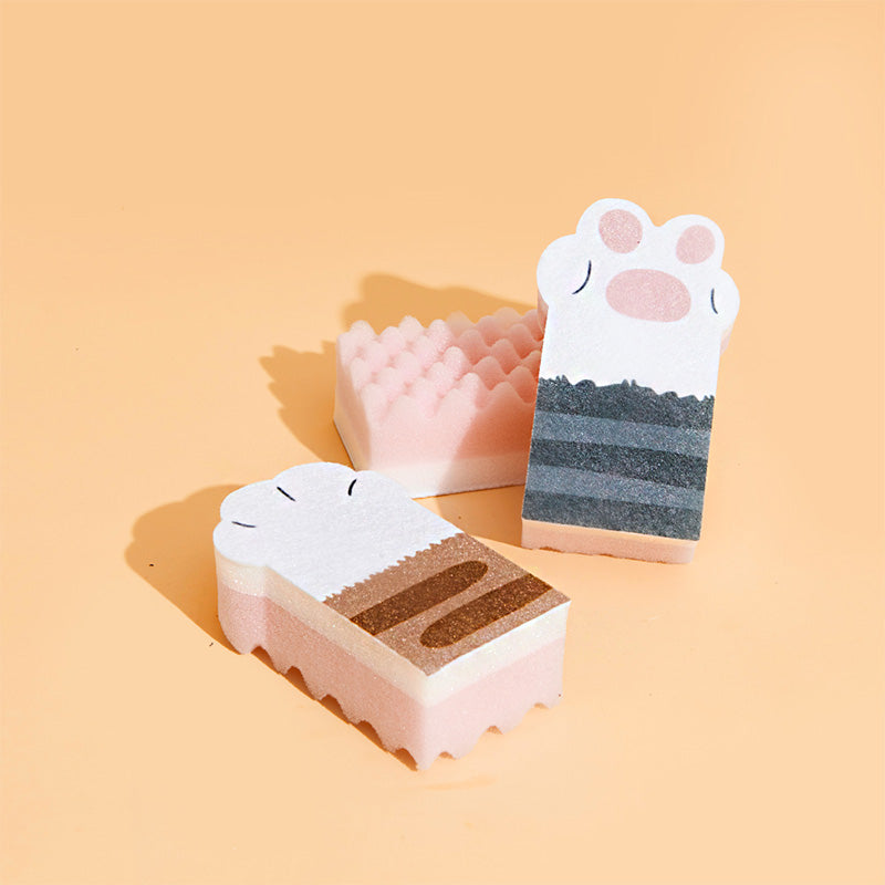 3 PCS Cat's Claw Sponge Cleaning Pad