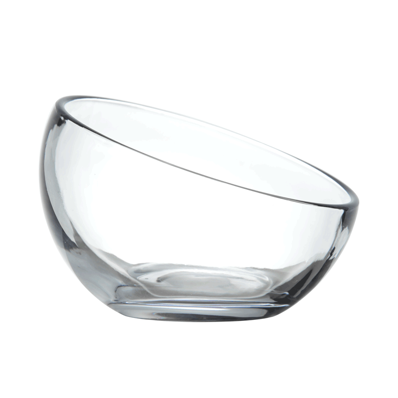 Glass Round Cat Bowl
