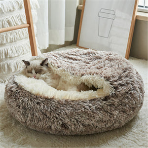 Warm Plush Semi-Closed Sleeping Bag Bed