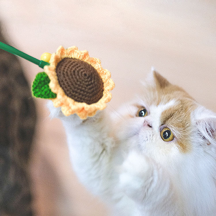 Sunflower Style Interactive Cat Wands Teaser - happyandpolly