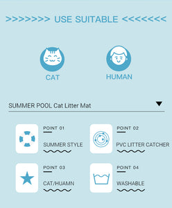 Summer Pool  Cat Litter Mat - happyandpolly