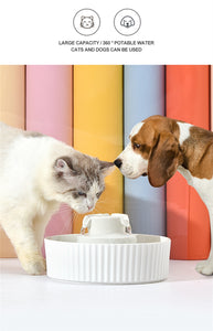 Colorful Cake Shaped Cat Automatic Drinking Fountain