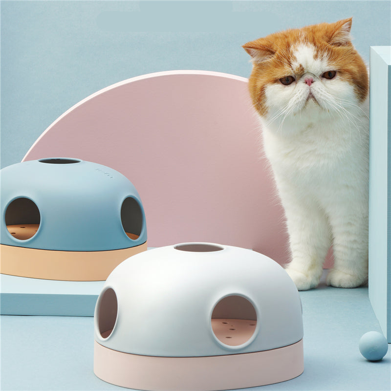 Turntable Ball Hole 3 in 1 Cat Toy