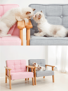 Wood Backrest Pet Sofa Chair