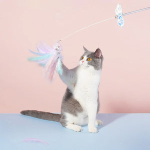 Laser Angel wings Interactive Cat Wands Teaser - happyandpolly