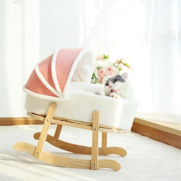 Royal Cat Rocking Bed - happyandpolly