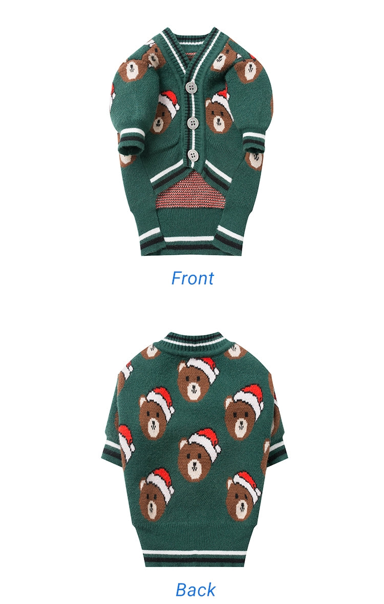 Christmas Bear Pet Sweater