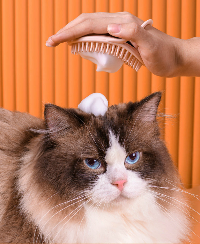 Massage brush cat bath brush - happyandpolly