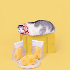 Cheese Shaped Cat Toy