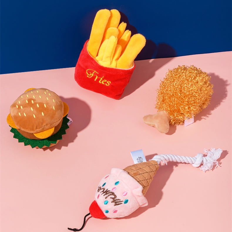 French fries burger Shaped Cat Toy