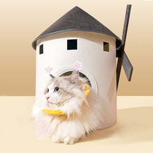 Windmill Shaped Cat House