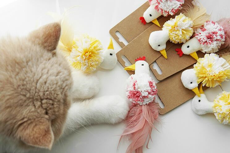 Little Chicken Series Cat Toy with Catnip Inside - happyandpolly