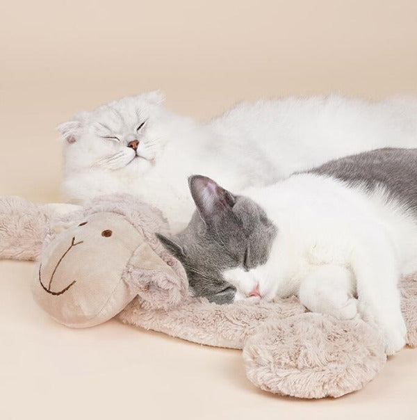 Sheep shaped Soft Cat Sleeping Mat - happyandpolly
