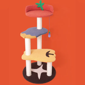 Fruit Series Wood Cat Climbing Frame