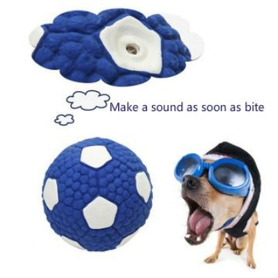Dog Toy Vocal Ball Latex Football - happyandpolly