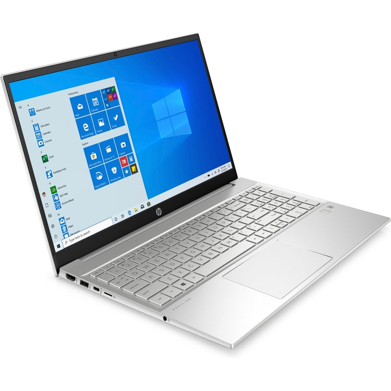 HP Pavilion Laptop – 15.6″ FHD | Core i7 – 1165G7 | 8GB RAM | 256GB SSD | Iris Xe Graphics | Fingerprint Reader | Windows 10 - Natural Sliver