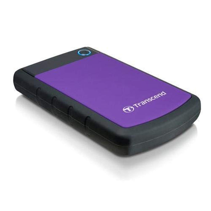 "Transcend StoreJet 25H3 1 Terabyte (1TB) SuperSpeed USB 3.0 2.5"" External Hard Drive w/One-Touch Backup Purple"