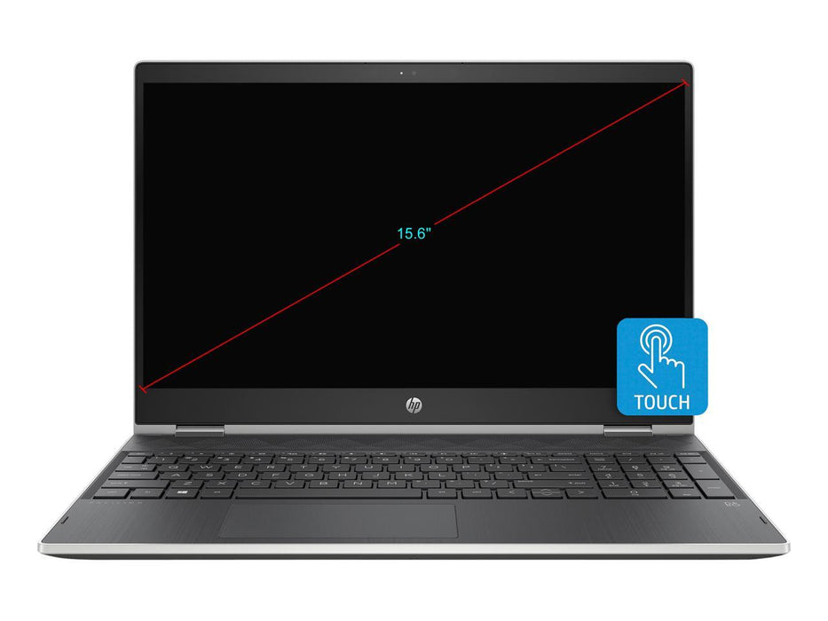 "HP Pavilion x360 Convertible Touchscreen Laptop - 15.6"" FHD Intel Core i5-8250U, 8GB RAM, 128GB SSD, Windows 10 Home - Natural Silver"