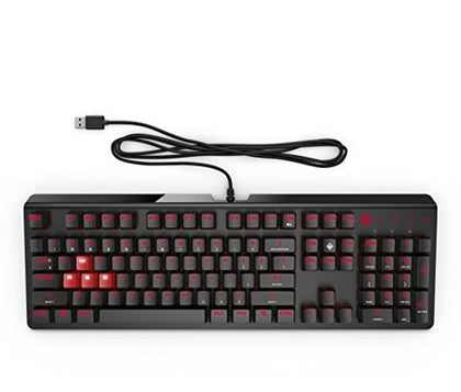 OMEN by HP Wired USB Gaming Keyboard 1100 (Black/Red)