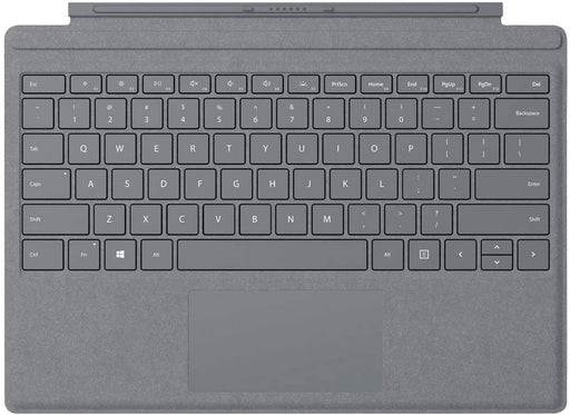 Microsoft Surface Pro Signature Type Cover Keyboard, English - Alcantara Material, Platinum Color - FFQ-00141