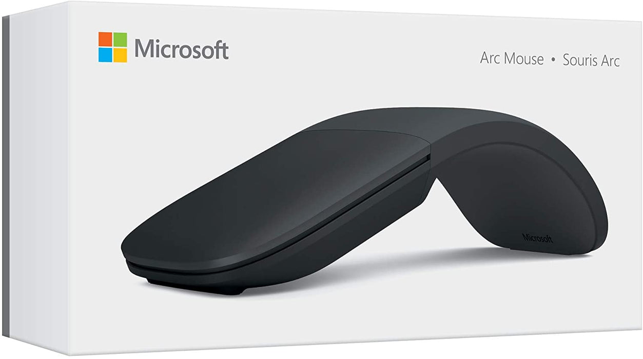 Microsoft ELG-00008 Wireless Arc Mouse New - Black Color