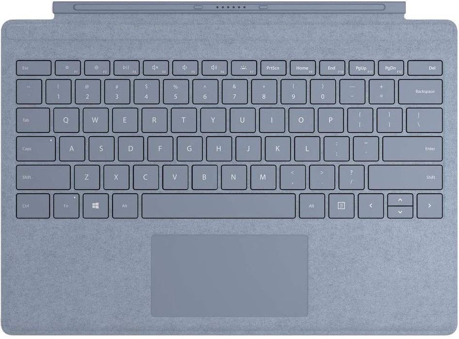 Microsoft Surface Pro Signature Type Cover Keyboard, English - Alcantara Material, Ice Blue Color - FFQ-00121