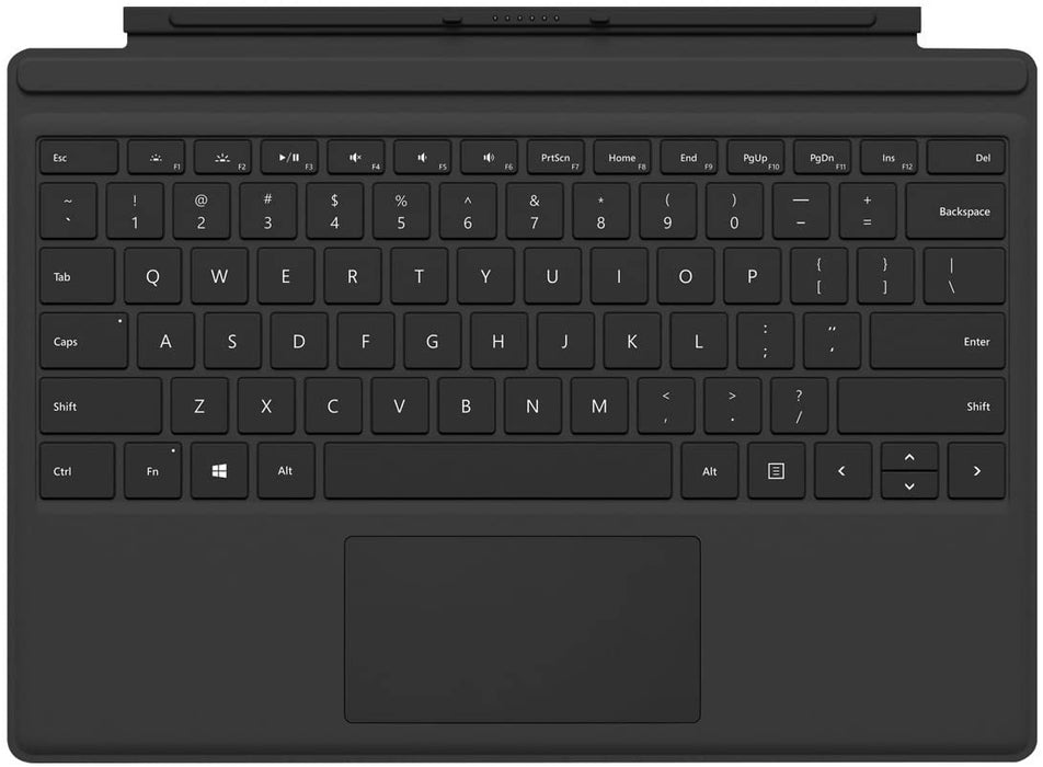 Microsoft Surface Pro Type Cover - English Keyboard Black for Surface Pro 6, Pro 5, Pro 4 and Pro 3 Devices