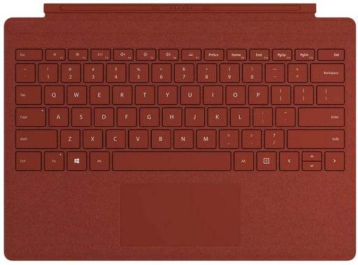 Microsoft Surface Pro Signature Type Cover Keyboard, English – Alcantara Material, Poppy Red Color - FFQ-00101