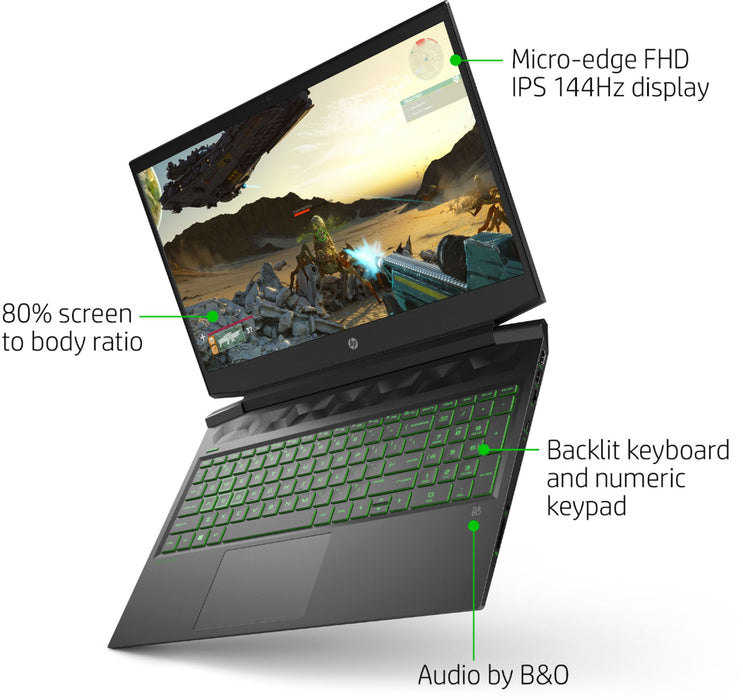 "HP Pavillion 16.1"" Gaming Laptop - Core i5-10300H 